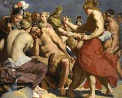 Jupiter Rebuked By Venus On Mount Olympus