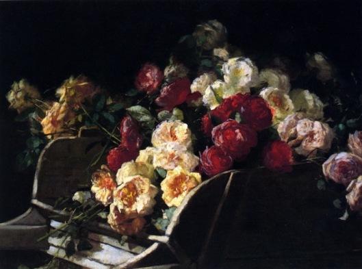 Roses In A Wheelbarrow