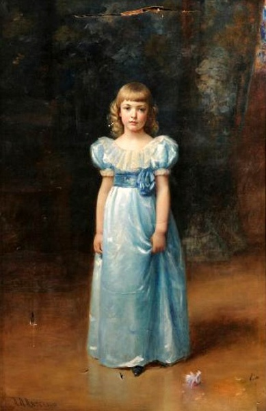 Standing Girl In Blue