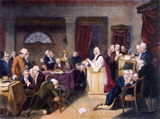 The First Prayer In Congress, September 1774