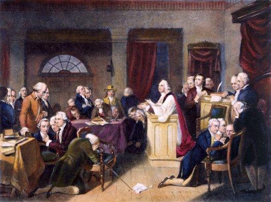 The First Prayer In Congress, September 1774
