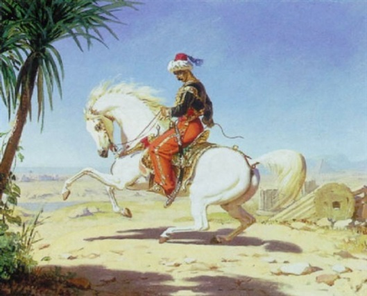 A Man On Horseback In Egypt