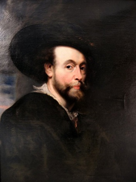 Portrait Of A Gentleman (after Peter Paul Rubens' Self Portrait)