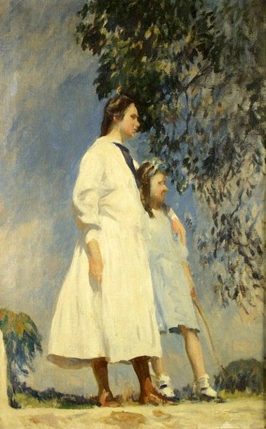 The Sisters (The Artist's Daughters, Pauline And Lydia)