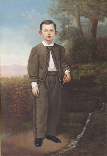 Young Boy Wearing A Mexican Riding Outfit