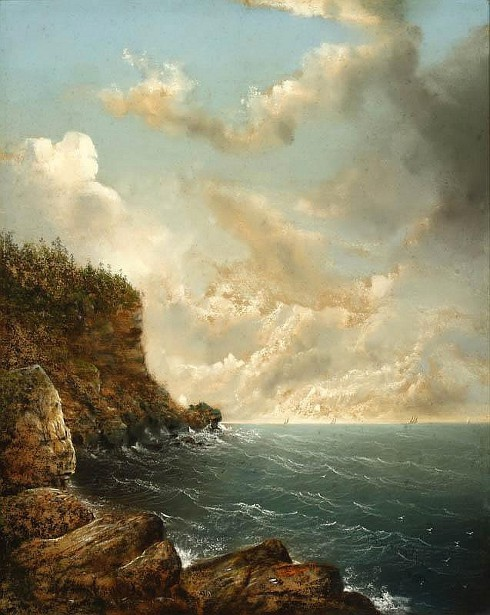 Distant Ships In A Coastal View