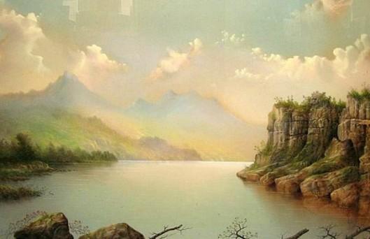 Early Morning, Columbia River Landscape - River Scene