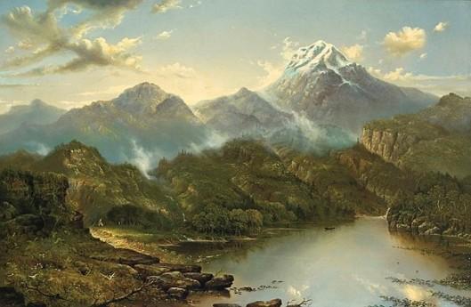 Indian Encampment - California Landscape