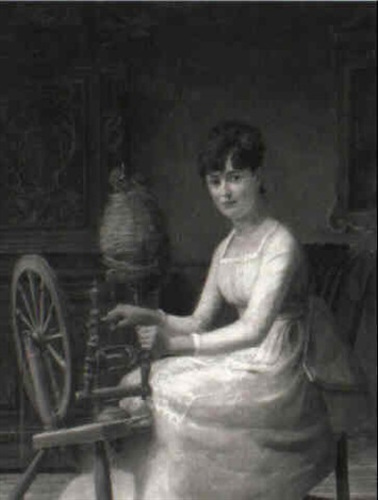 Woman Spinning Woods