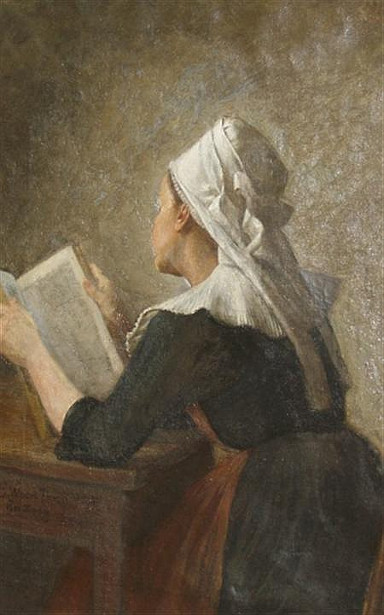 Breton Woman Reading