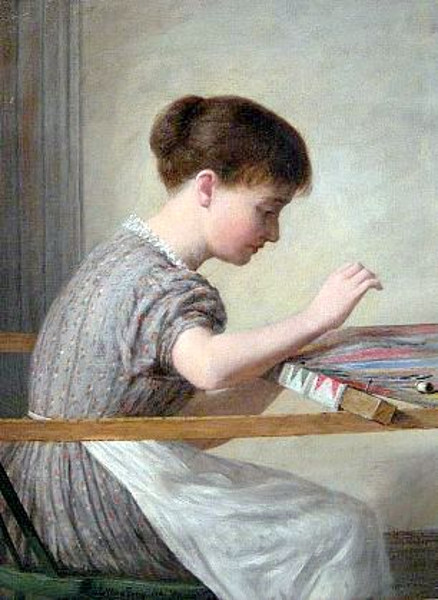 Girl Quilting