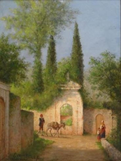 Roman Countryside With Figures