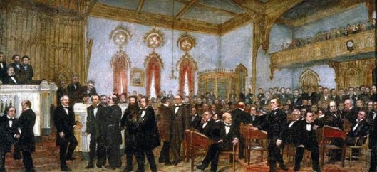 Signing The Ordinance Of Secession Of The Louisiana, January 26, 1861