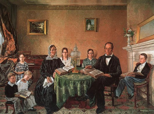 The Reverend John Atwood And His Family