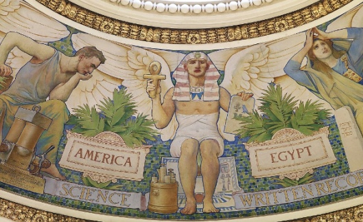 Egypt's Contribution Of Written Records (Mural in the Library of Congress, Washington)