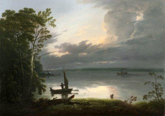 Night Scene - River Scene With Steamboat
