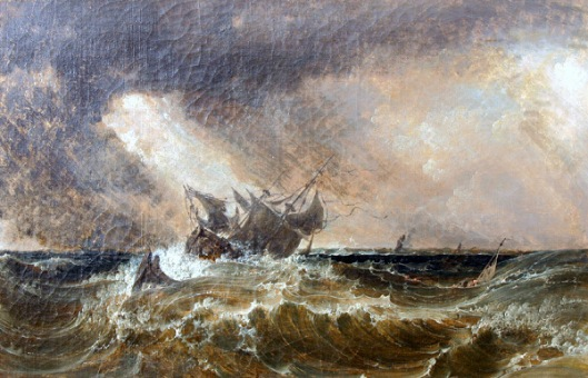 Ship At Sea In A Squall