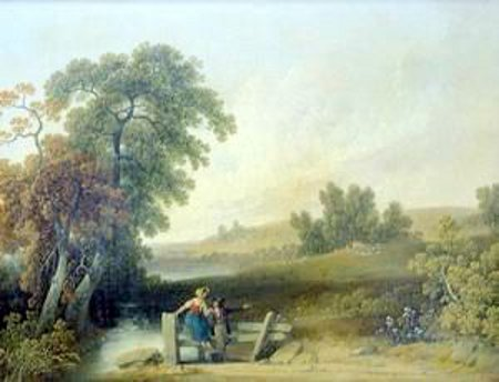 Two Figures In A Landscape