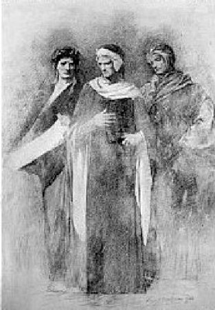 Virgil, Dante And Petrarch
