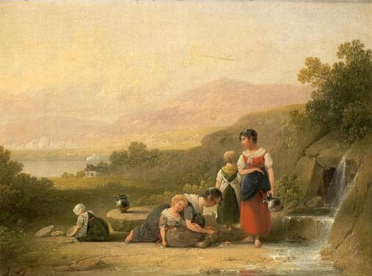 Women And Children At The River