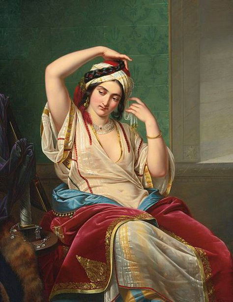 A Harem Beauty At Her Toilette