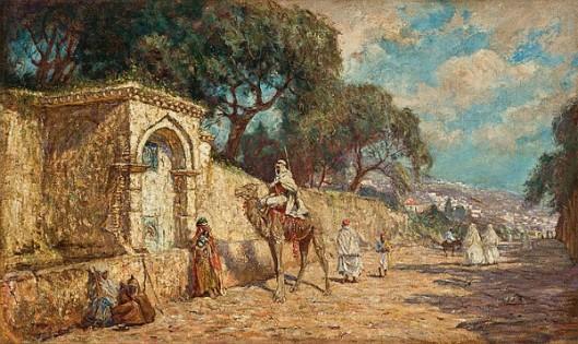A Street Scene In Algiers