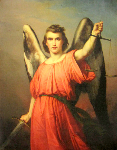 Archangel Michael With Sword And Scale