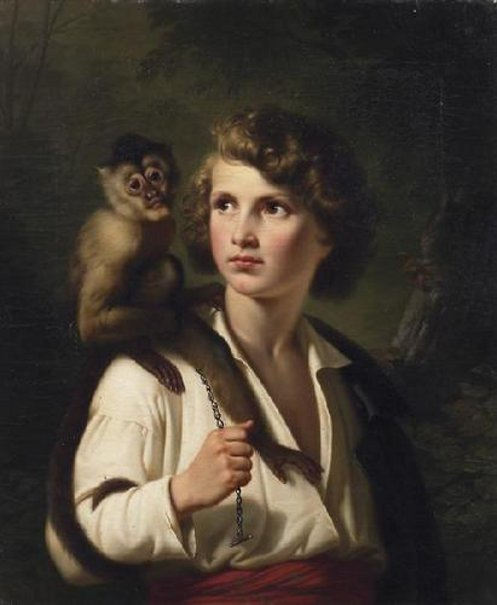 Boy With Capuchin Monkey
