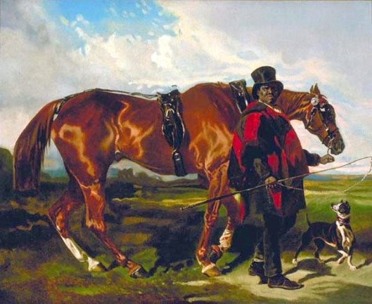 Coachman With Horse And Dog