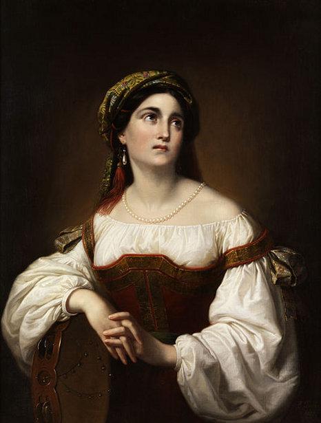 Italian Woman With Tambourine