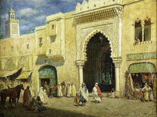 Middle Eastern Market Scene