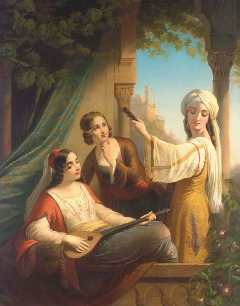Oriental Ladies Playing Music