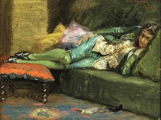 Young Parisian Man On Couch