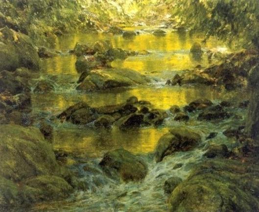 Pond And Rocks