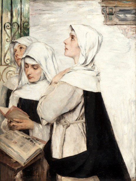 Three Nuns In Prayer
