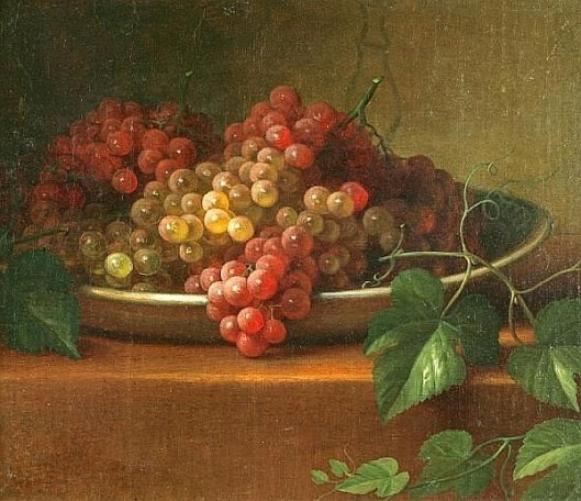 Grapes In A Porcelain Bowl