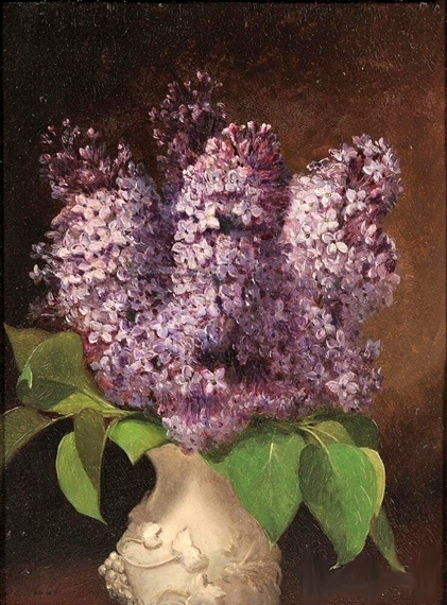 Lilacs In A White Porcelain Vase