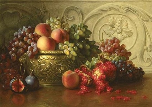 Roman Grapes And Pomegranates