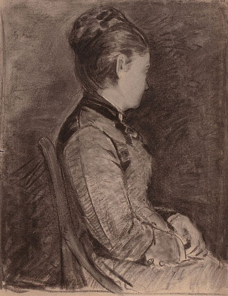 Seated Woman With Upswept Hair
