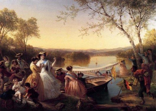 Reminiscences of Lake Mahopac, New York (Ladies Preparing For A Boat Race)