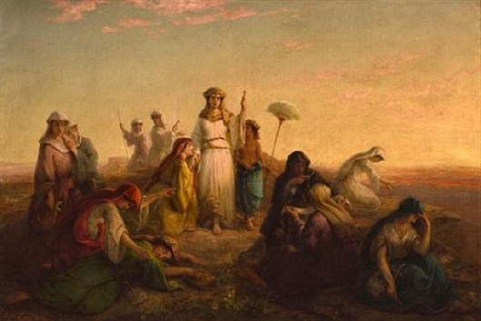 The Women Of Egypt Pleading With Thermutis, Daughter Of The Pharaoh