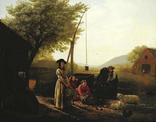 Preparing For Market - Spring Morning By The Kitchen Door