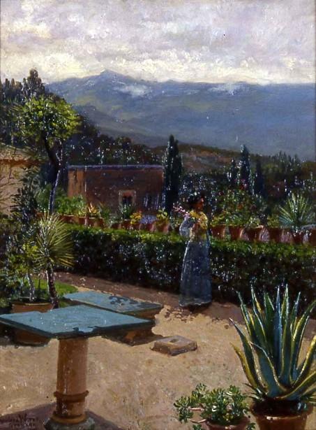 A Garden In Alambra, Spain