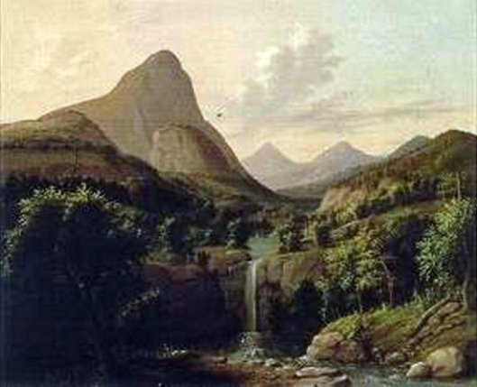 Mountain And Falls, California