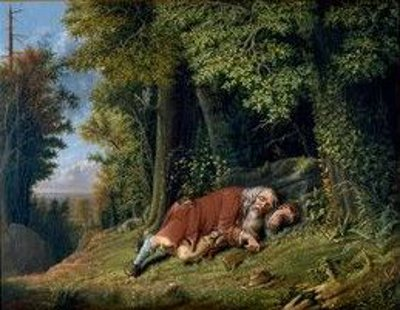 Rip Van Winkle Asleep