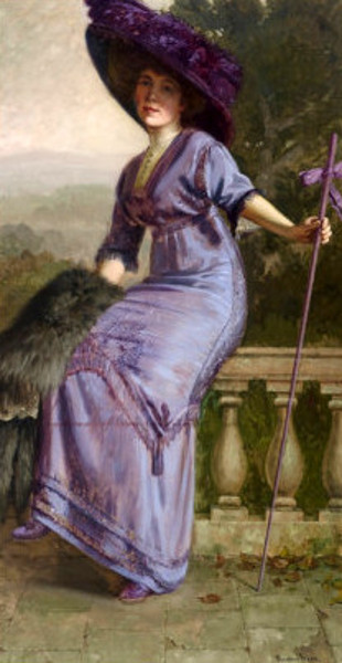Study In Purple - Portrait Of Gertrude McFarland