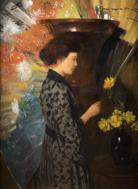 young-woman-arranging-flowers-in-an-oriental-interior-stephanie-breul-the-artists-daughter