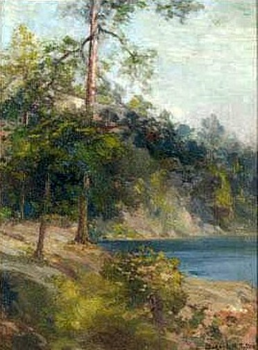 A Wooded Lake