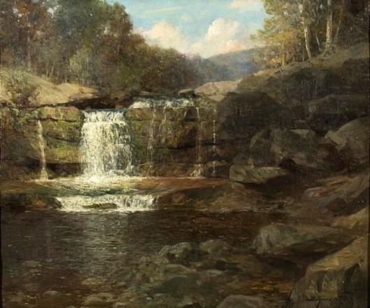 Catskill Mountain Stream With Waterfall