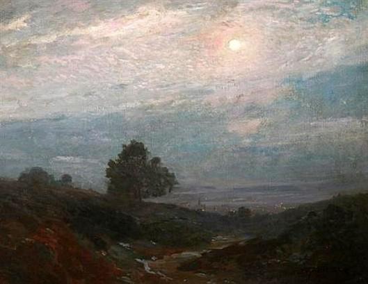 Moonlit Nocturne Above Hudson